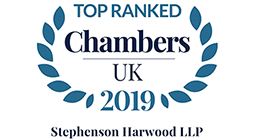 Chambers UK - Top Ranked 2019