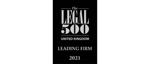 The Legal 500 UK 2021 - Leading firm
