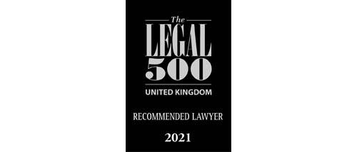 The Legal 500 UK 2021 - Recommended lawyer