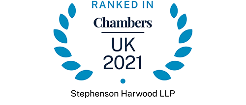 Chambers UK 2021 - Ranked in