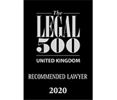 The Legal 500 UK 2020 - Recommended lawyer